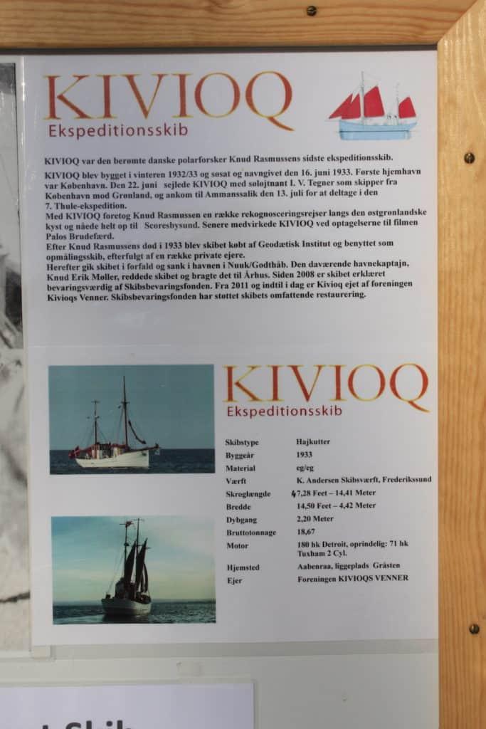 Info-tavle ombord på KIVIOQ