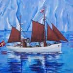 Kivioq til Hundested. Maleri af Hundested-kunstneren Tina Rosenberg