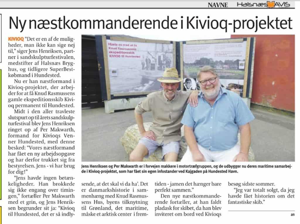 Halsnæs Avis artikel maj 2018
